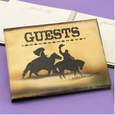 Cowboy Couple Guest Book