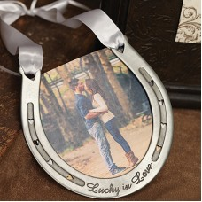 Lucky In Love Pewter Horseshoe