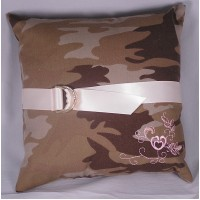 Discerning Camo Ring Pillow