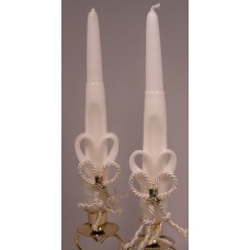 Ivory Tapers with Gold Charms