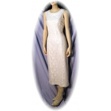 Ivory Lace Tank Dress