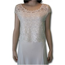 Rose Lace Top, Ivory