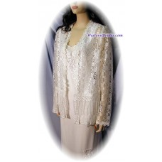 Short Lace Jacket, White