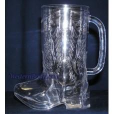 Clear Plastic Cowboy Boot Mug