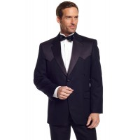 Circle S Traditional Western Tuxedo Coat in Black