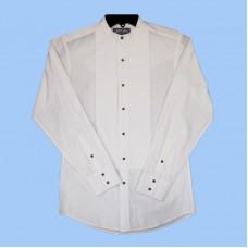 White Horse Banded Collar Western Tuxedo Shirt