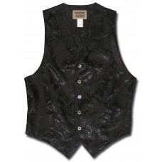 Floral Jacquard Men's Vest in Black