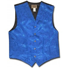 Floral Jacquard Men's Vest in Blue