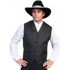 Wah Maker Black Paisley Vest