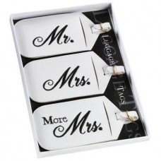 Set of 3 Mr. & Mrs. Luggage Tags