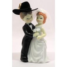 Porcelain Western Bride and Groom