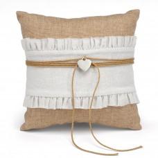 Rustic Romance Ring Pillow