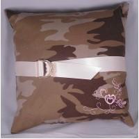 Discerning Camo Ring Pillow
