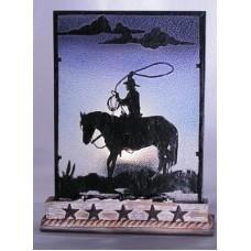 Cowboy Silhouette Votive Holder 1