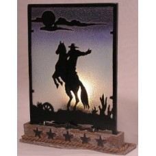 Cowboy Silhouette Votive Holder