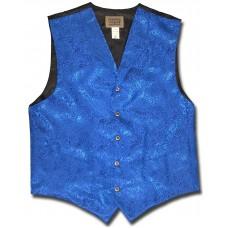 Floral Jacquard Men's Vest in Blue